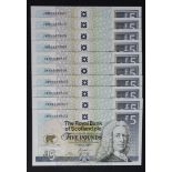 Scotland, Royal Bank of Scotland 5 Pounds (10), Jack Nicklaus Commemorative issue dated 14th July