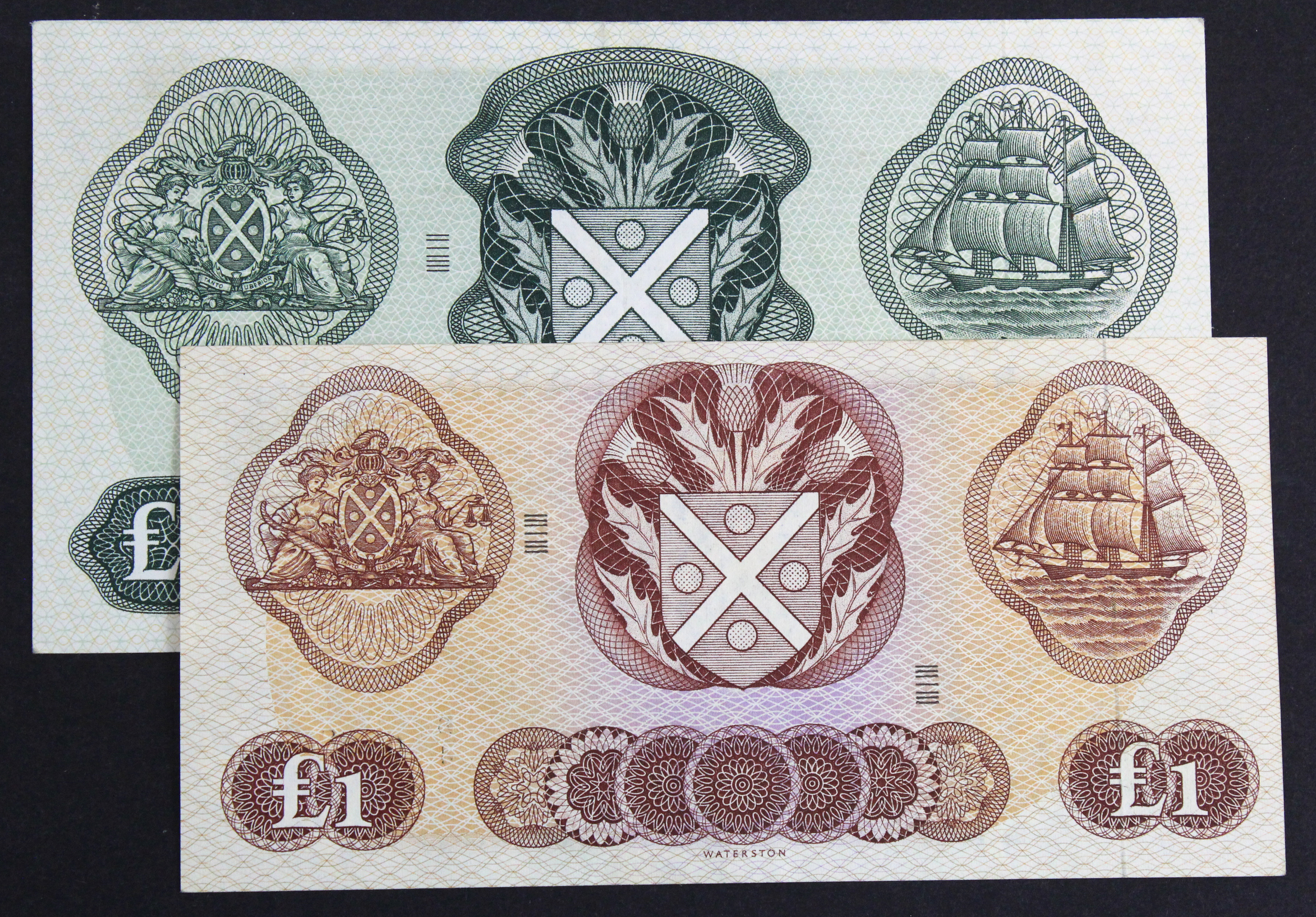 Scotland, Bank of Scotland (2), 5 Pounds dated 8th December 1969, signed Polwarth & Letham, serial C - Image 2 of 2