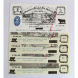 Wales (5), 10 Shillings, 1 Pound, 5 Pounds & 10 Pounds, treasury stamp dated 1970, Black Sheep