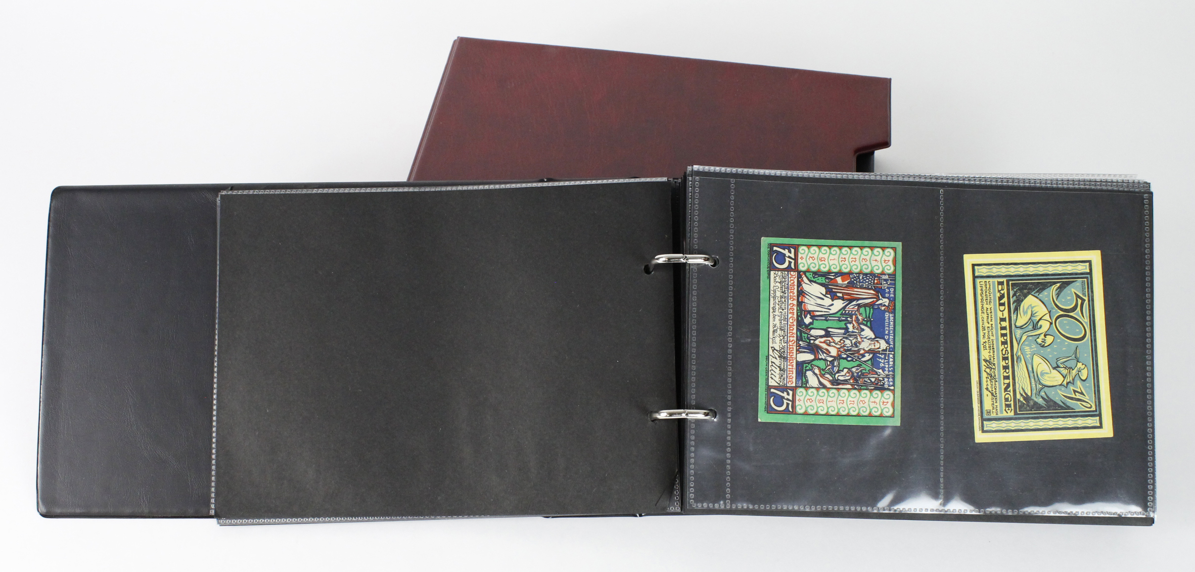 Germany Notgeld (203), a mixed collection of town/city sets and individual notes in a Notgeld album,