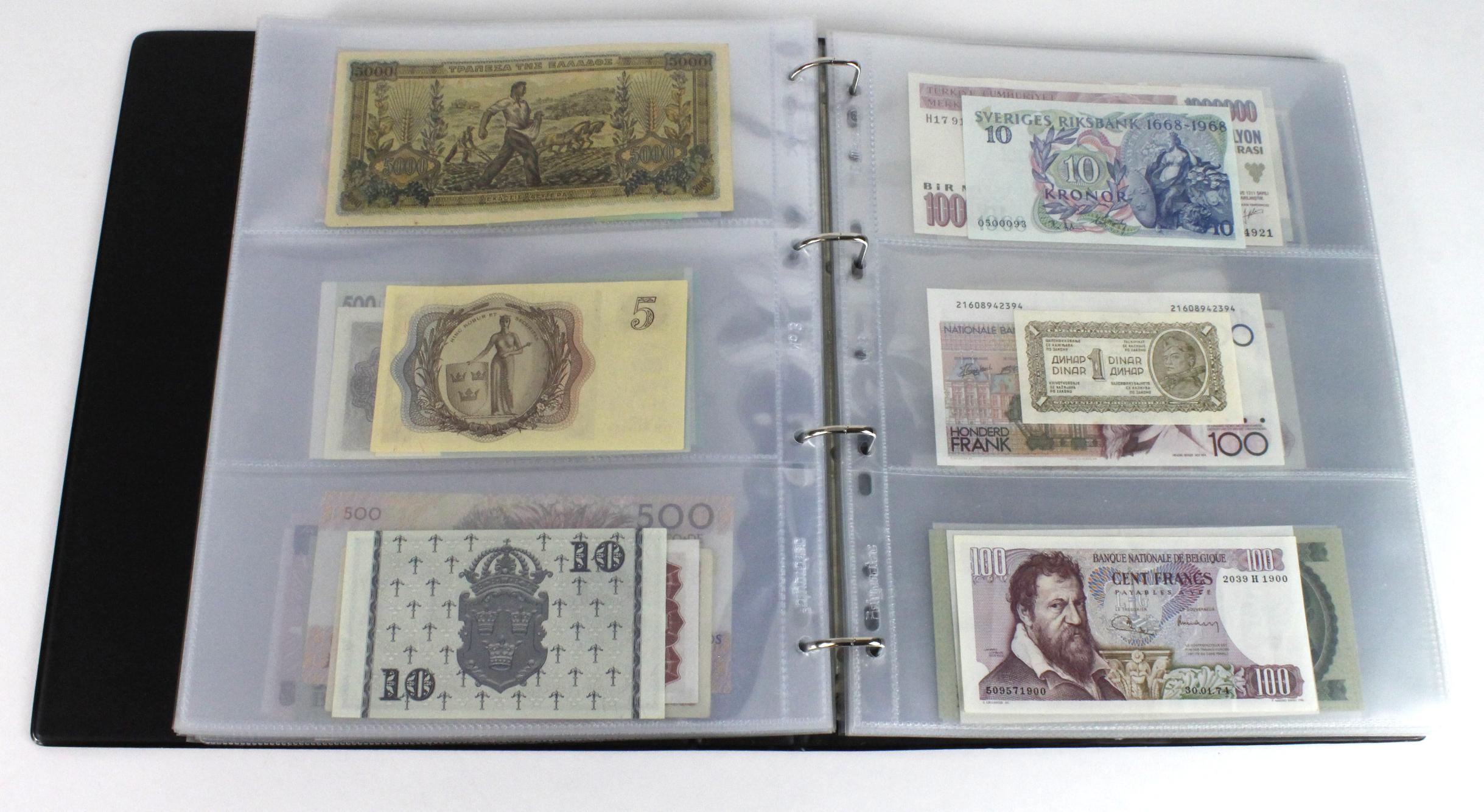 World (163), in banknote album including Bahamas, Spain, Sweden, Netherlands, Algeria, Macau, - Image 39 of 57