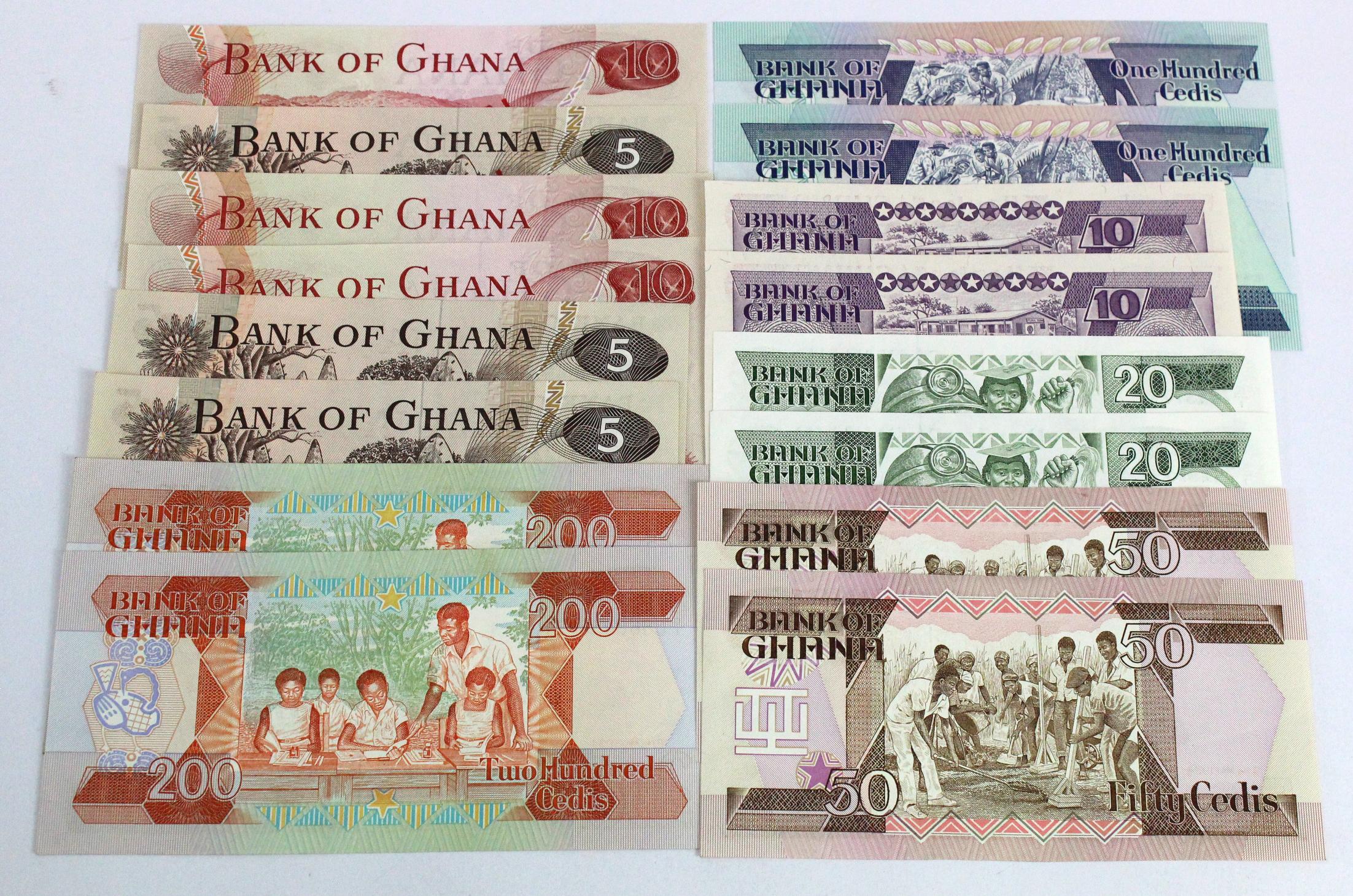 Ghana (16), 200 Cedis (2), 100 Cedis (2), 50 Cedis (2), 20 Cedis (2) & 10 Cedis (2), (these Z/1 - Image 2 of 2