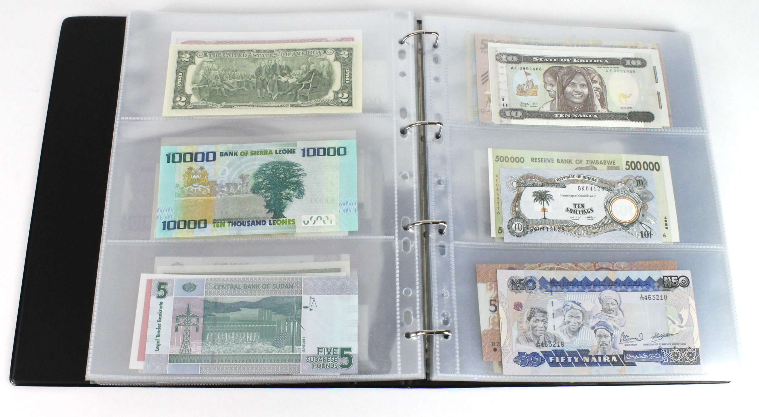 World (163), in banknote album including Bahamas, Spain, Sweden, Netherlands, Algeria, Macau, - Image 33 of 57
