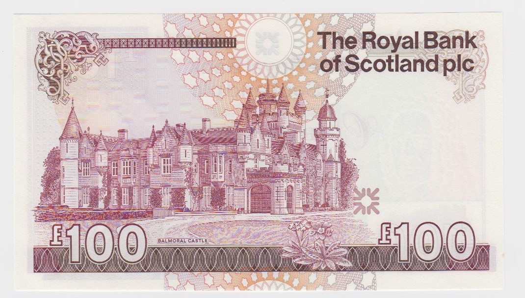 Scotland, Royal Bank of Scotland 100 Pounds dated 30th March 1999, signed G.R. Mathewson, serial A/2 - Image 2 of 2