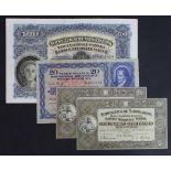 Switzerland (4), 100 Franken dated 16th October 1947 Fine+, 20 Franken dated 22nd February 1951 VF+,