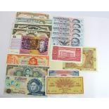 World (29), a good group of high grade notes, Australia (2), Bahamas, Belize, Canada, China (2),