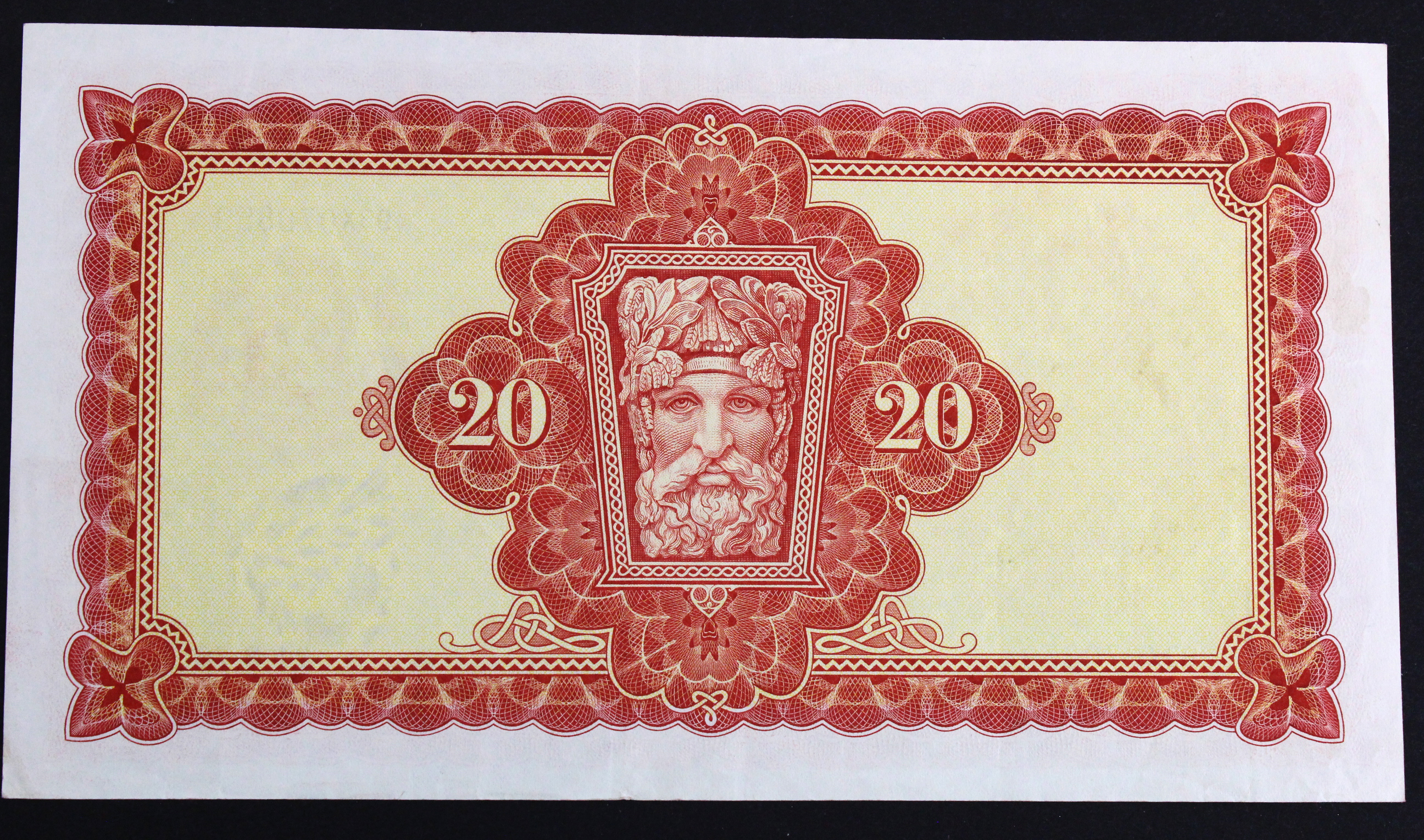 Ireland Republic 20 Pounds dated 24th March 1976, last date of issue, Lady Lavery portrait at - Image 2 of 2