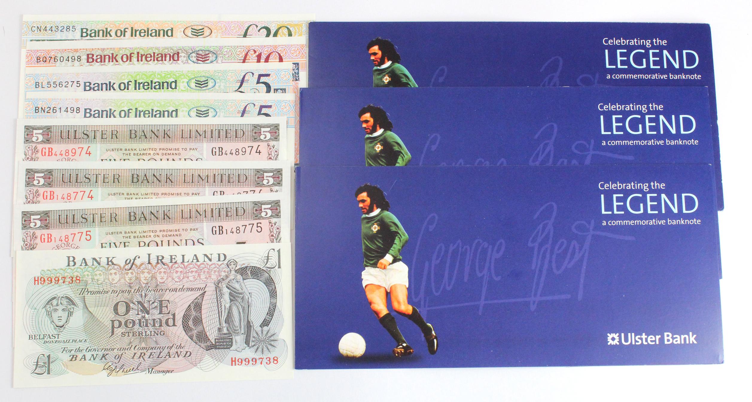 Northern Ireland (8), an Uncirculated lot, Bank of Ireland (5) 20 Pounds dated 2007, 10 Pounds dated