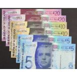 Scotland, Bank of Scotland (6), a good group of consecutively numbered pairs, 20 Pounds (2) dated