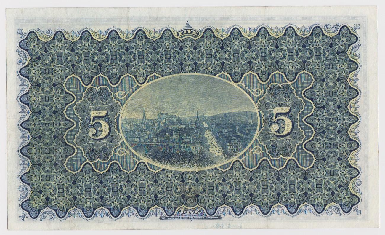 Scotland, National Bank of Scotland 5 Pounds dated 1st December 1955, signed Dandie & Alexander, - Image 2 of 2