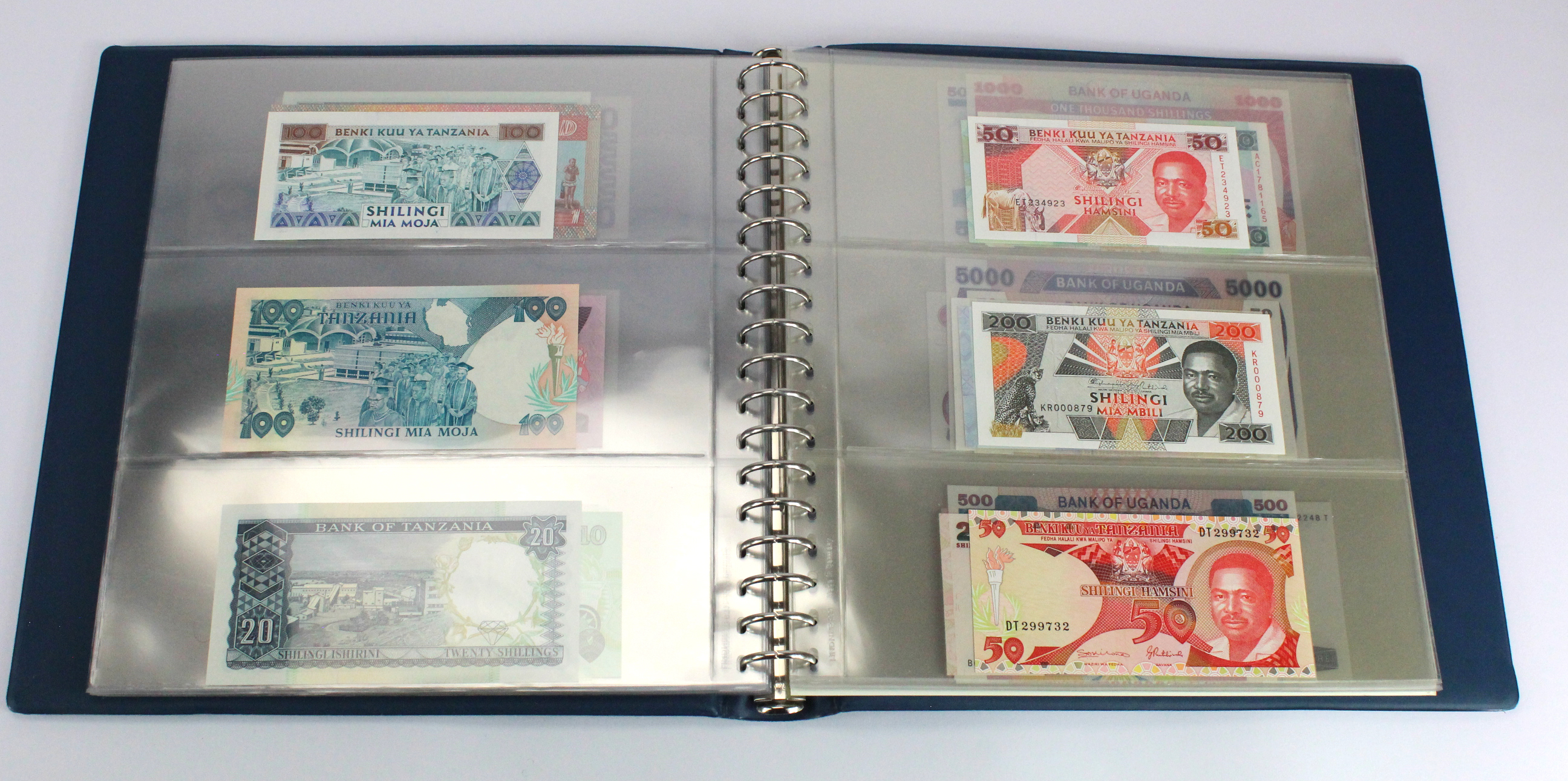 World, Africa (76) a good group of Uncirculated notes in Lindner album, Biafra, Gambia, Ghana, - Image 20 of 27