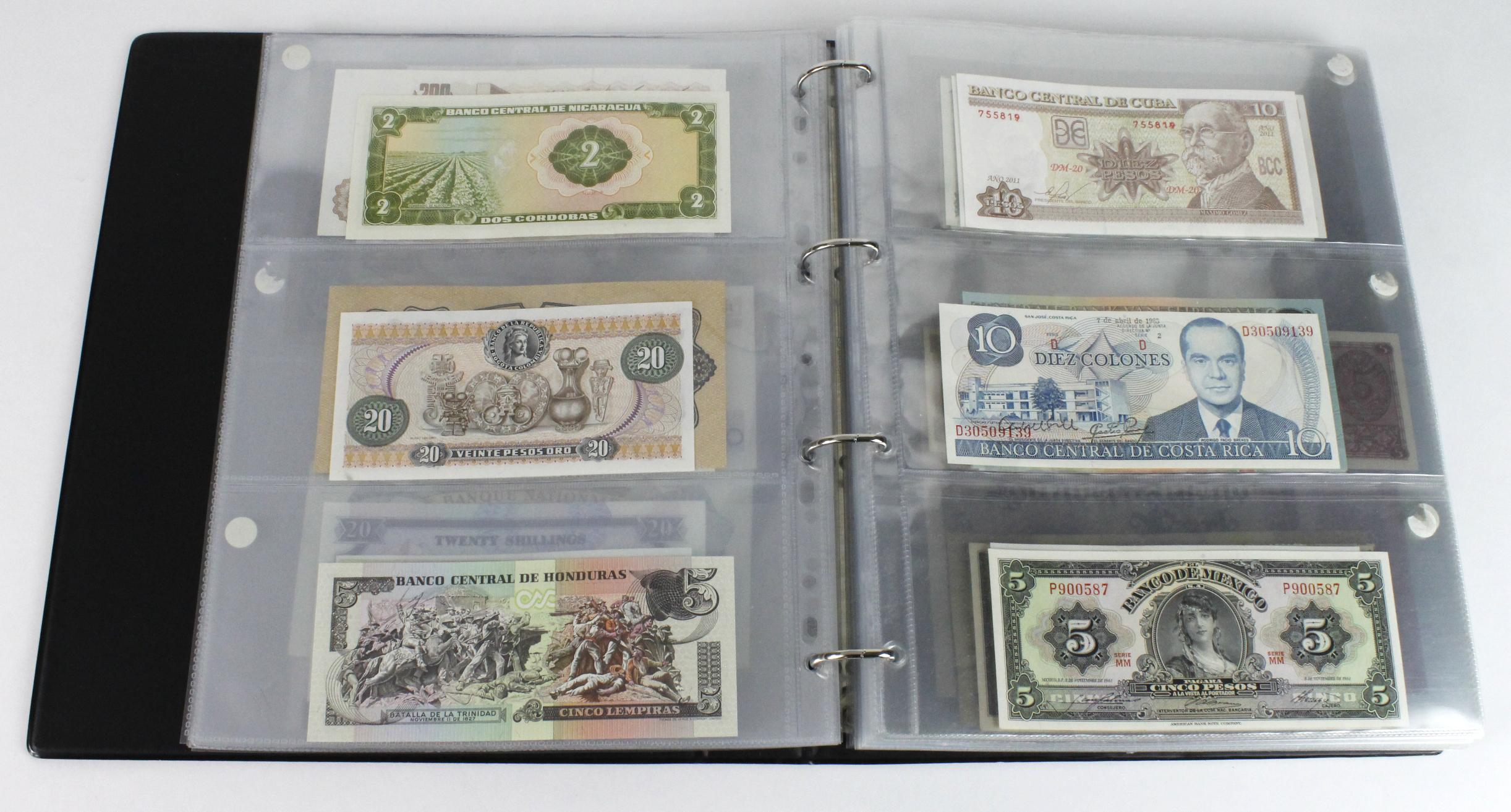 World (163), in banknote album including Bahamas, Spain, Sweden, Netherlands, Algeria, Macau, - Image 14 of 57