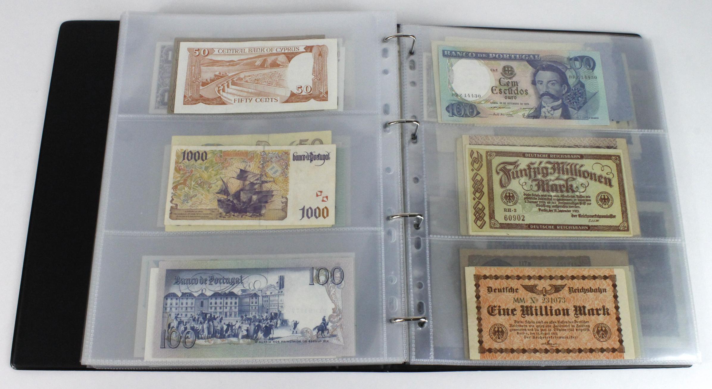 World (163), in banknote album including Bahamas, Spain, Sweden, Netherlands, Algeria, Macau, - Image 48 of 57