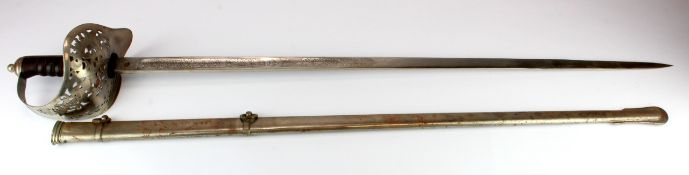 KEDVII Sword with metal scabbard, a Wilkinson '07 Bayonet without scabbard, a French M1886/93/16