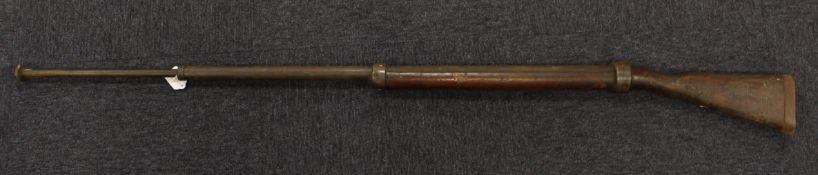 WW1 scarce spring bayonet training rifle.