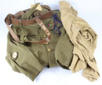 WW2 Royal Artillery officers uniform jacket, trousers, hat, Sam brown complete with all its