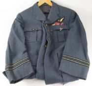 RAF Navigators uniform, hat, jacket and trousers complete with brass Kings crown buttons,