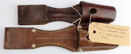 German Nazi original Police bayonet frog marked 'Johann Frohlich Wien XV 1938', plus one other