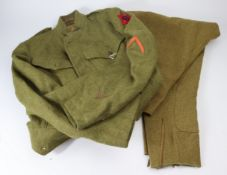 WW1 US Army enlisted mans uniform jacket and trousers with 6th Infantry division formation sign