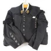 German WW2 Bergbau (Miners) Association dress uniform, black jacket and trousers with back buttons