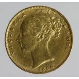 Sovereign 1866 die no. 36, VF, small scratch rev.