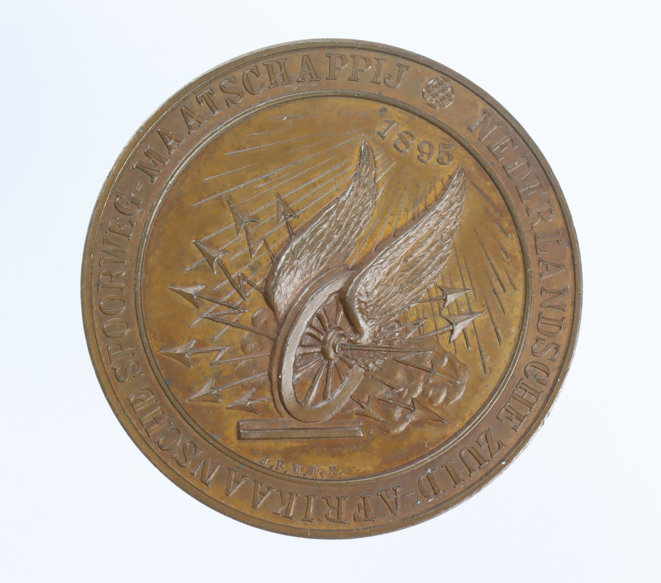 Railwayana: South African commemorative medal, bronze d.44mm: Kruger / Opening of the Pretoria to - Image 2 of 2