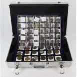 GB Coin Collection housed in a 5-tray aluminium carry case (with key): Farthings 17th-20thC
