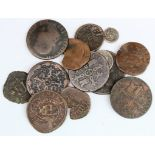 Spain & Spanish Colonial (13) 18th-19thC assortment, a couple of silver minors noted.