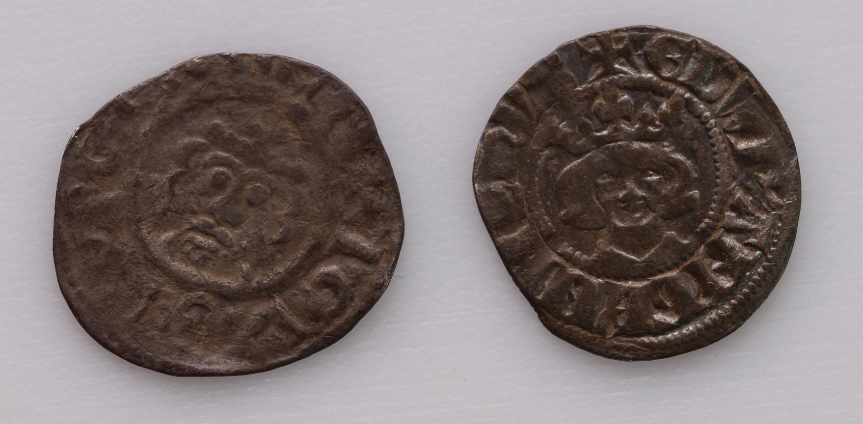 Canterbury Mint Pennies (2): Richard I Class 4b, S.1348C, REINALD ON CA, 1.26g, VG, along with