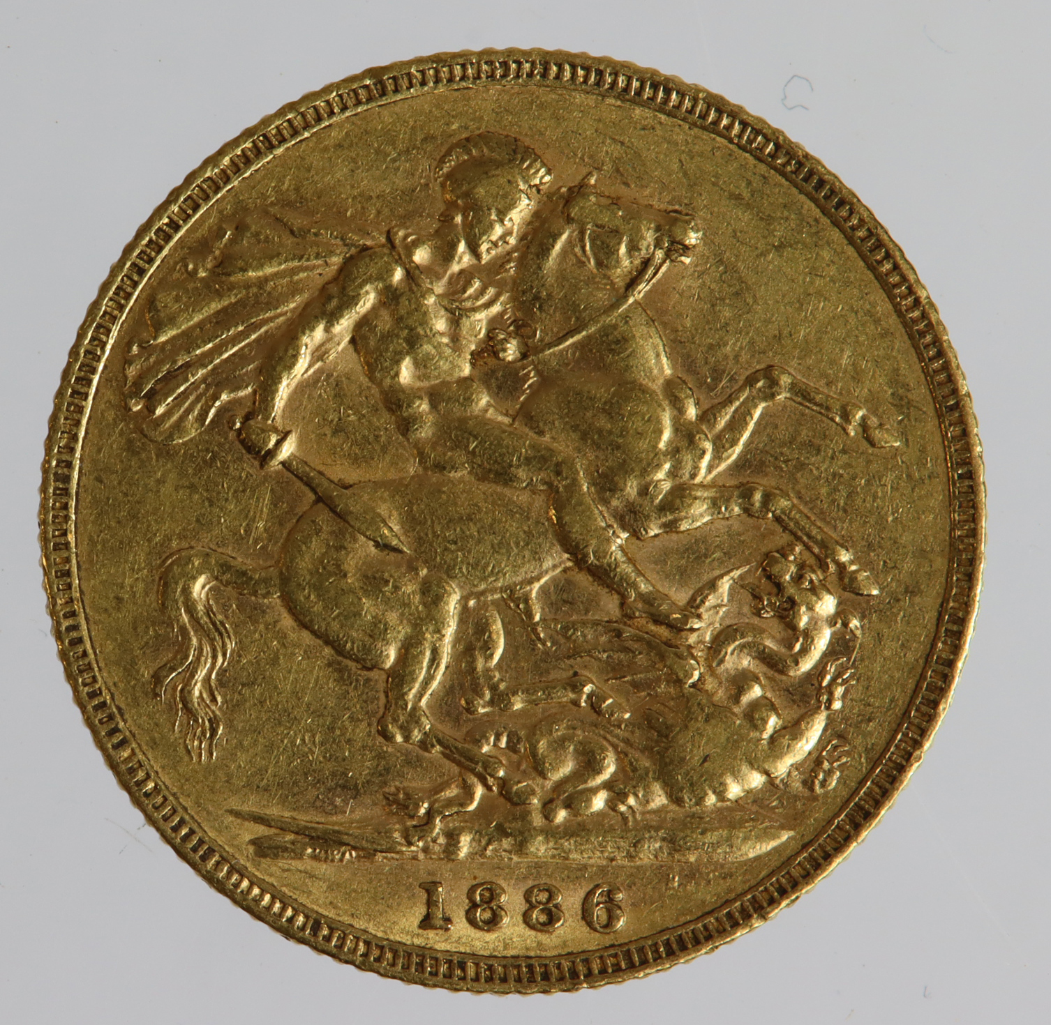 Sovereign 1886m (St George) VF - Image 2 of 2