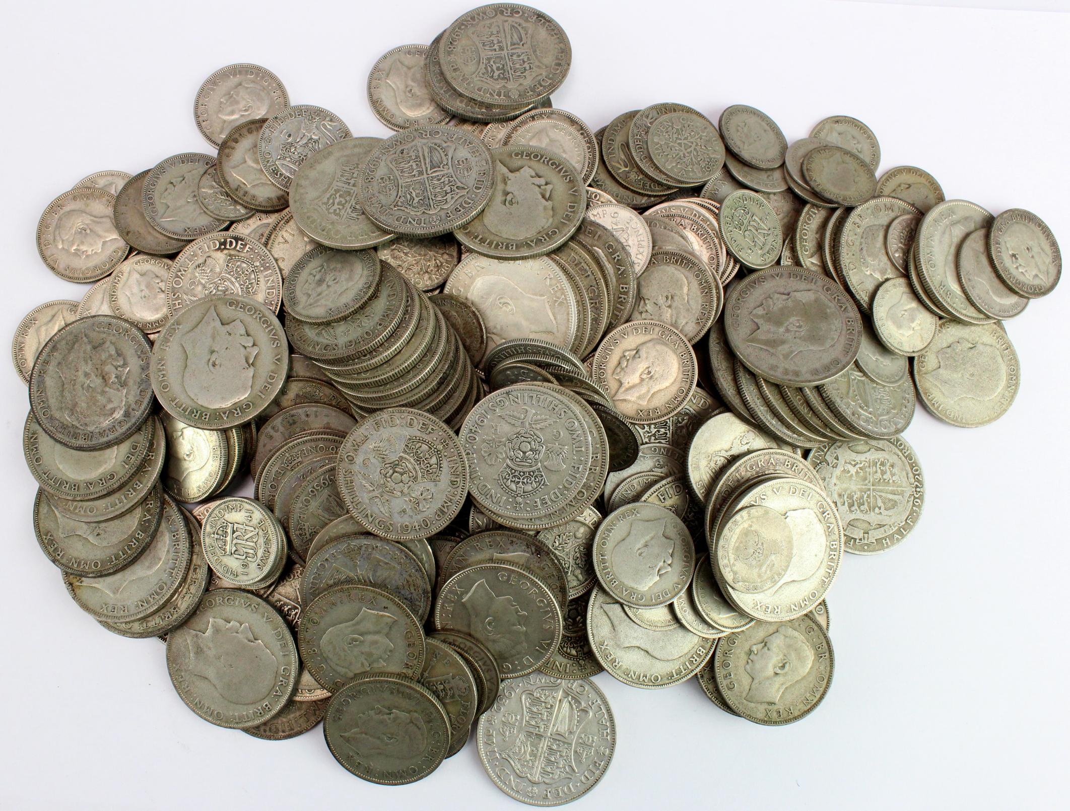 GB Pre-1947 Silver Coins 1764g