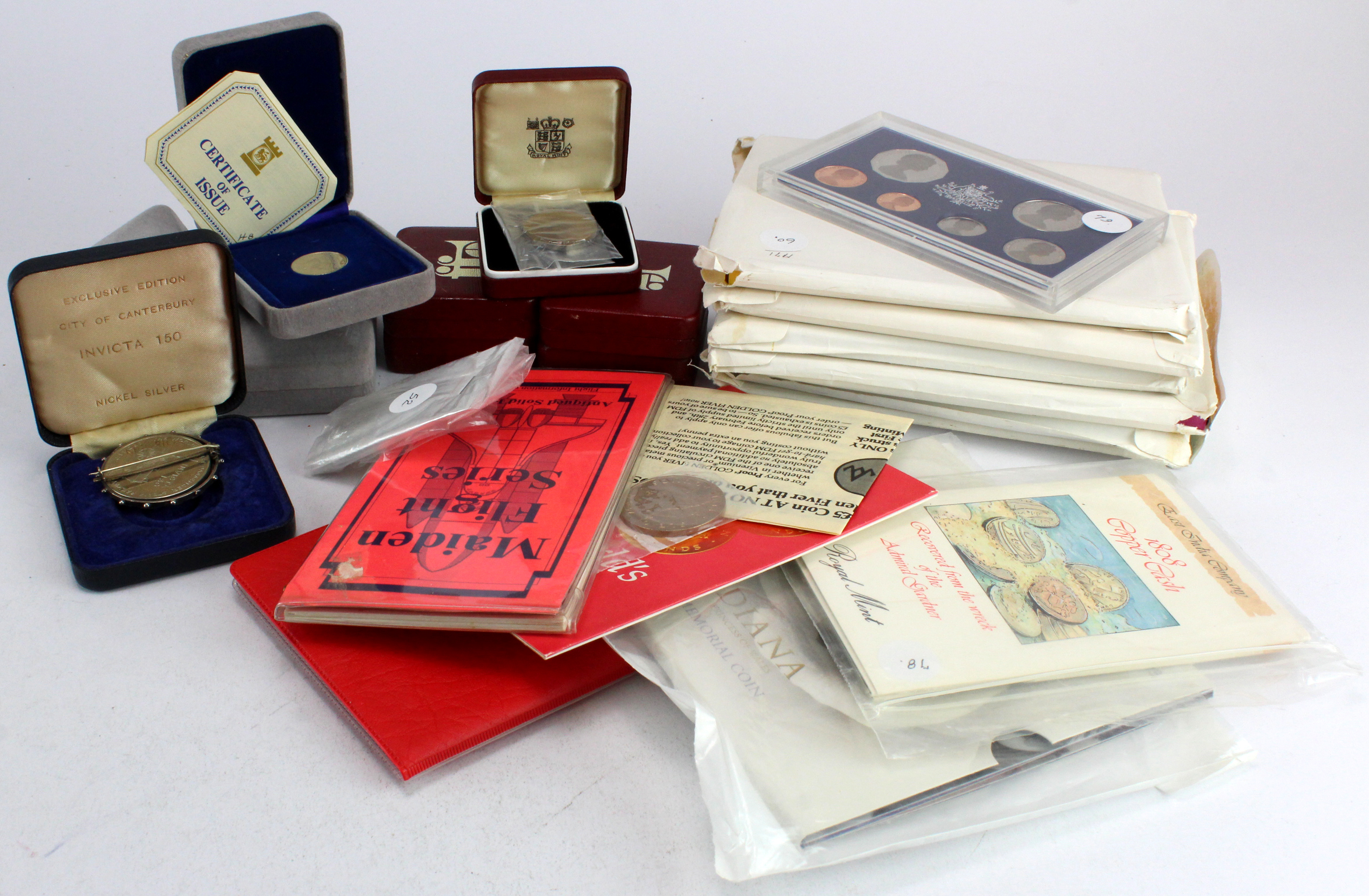 World Proof Sets, presentation packs, boxed coins etc. All seem to be base metal issues struck in