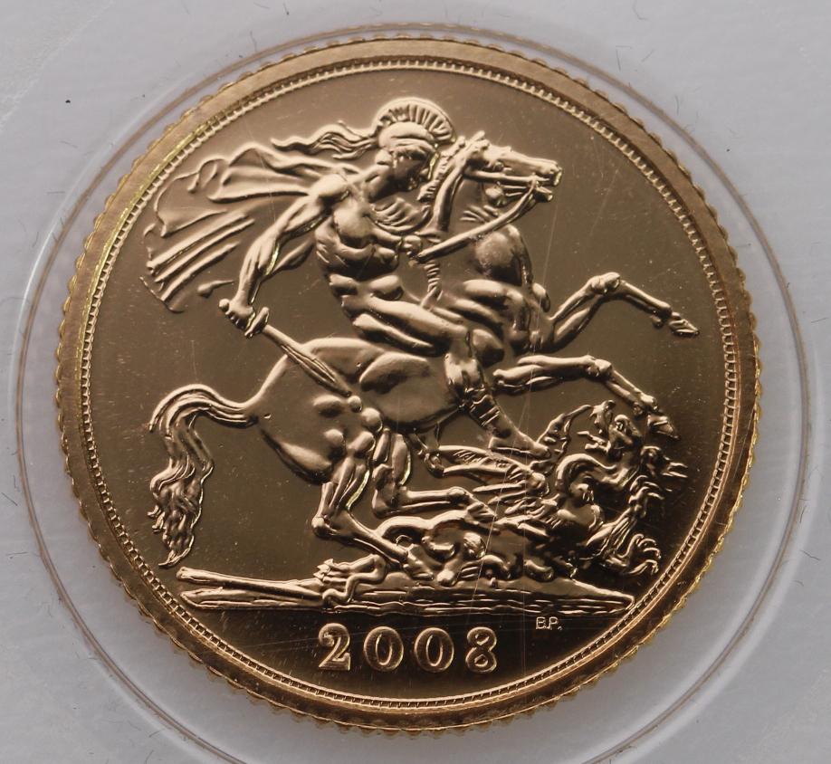 Half Sovereign 2008 BU still sealed - Image 2 of 2