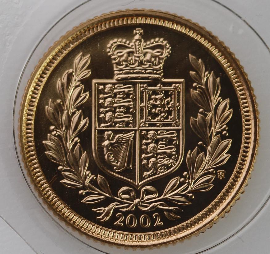 Half Sovereign 2002 (Shield back) BU still sealed - Image 2 of 2