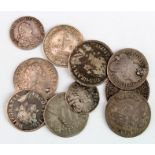 GB Maundy Oddments (10) 17th-19thC: 4d's: 1677 VF, 1679 F, 1686 Fair, 1717 VF large surface flaw,