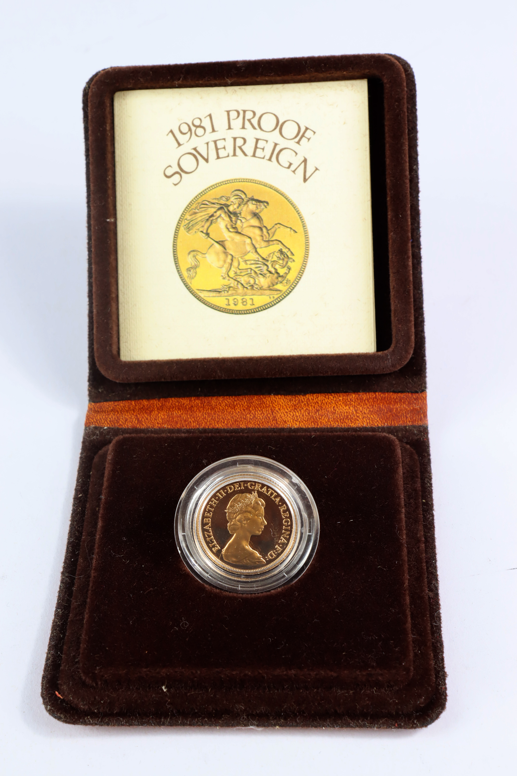 Sovereign 1981 Proof FDC boxed as issued