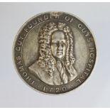 Nursing Medal, silver d.32mm: Guys Hospital, Five Years Service medal to Helen B. Lambert. Circa