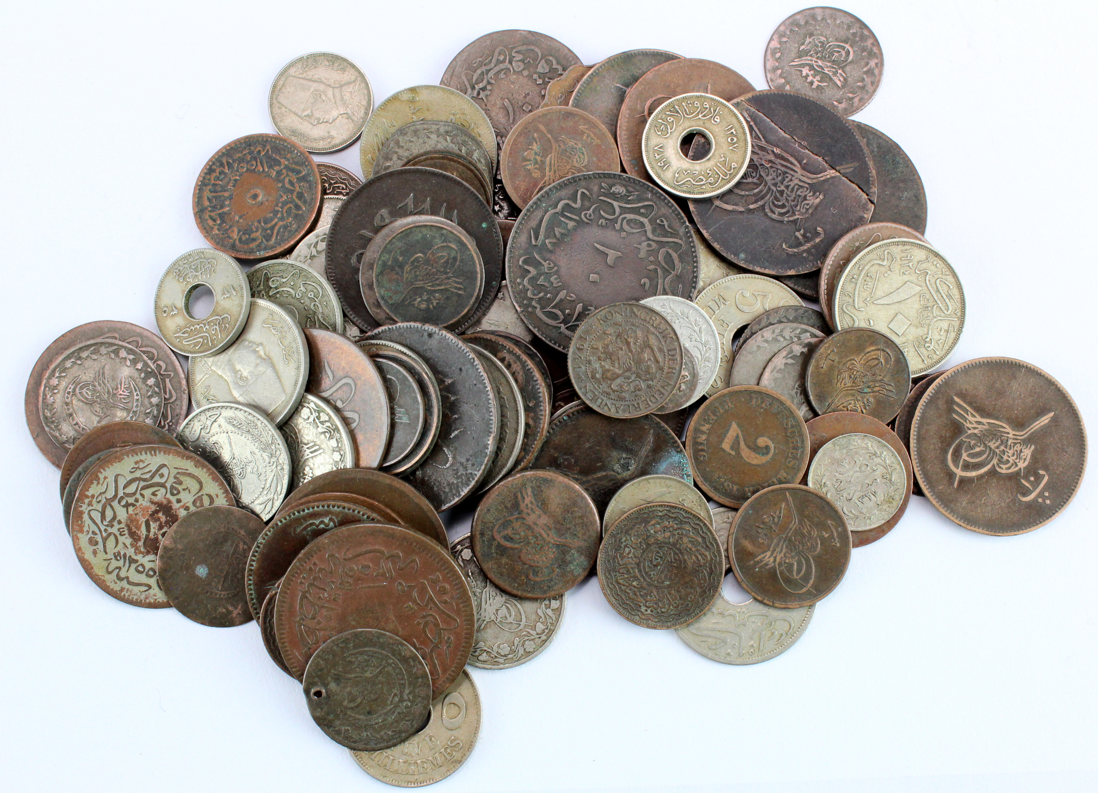 Turkey & Egypt (93) 19th-20thC coinage, mixed grade, a few silver minors noted.