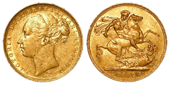 Sovereign 1882m (St George) GVF a few tiny contact marks obverse under magnification