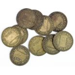 Warrington Wire Drawers Society (10x) 2d. Brass Trade Union Tokens, probably late Victorian