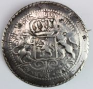 Dutch Armorial silver badge of office? Bears Dutch hallmarks for 1854. Weighs 31.1gms.