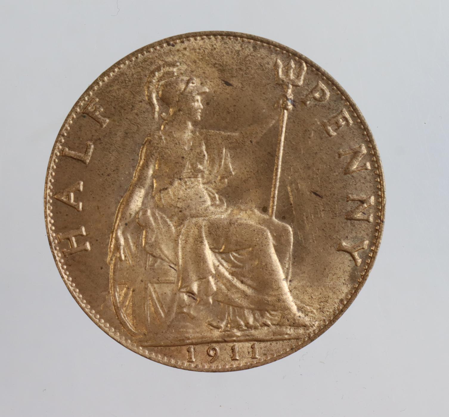 Halfpenny 1911 BU - Image 2 of 2