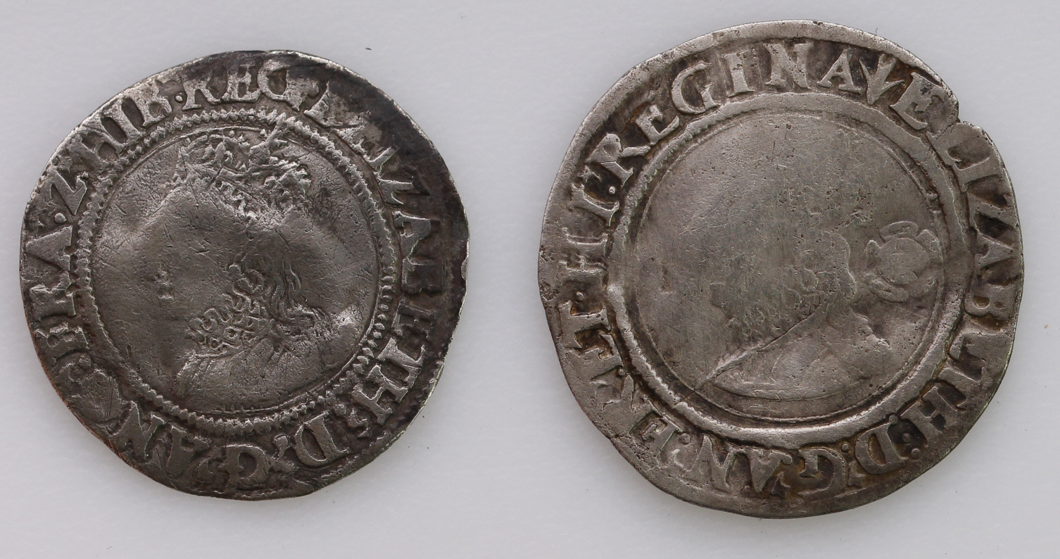 Elizabeth I Silver Groats (2): First Issue, mm. Lis, S.2551, crinkled nF; and 1562/1 overdate mm. - Image 2 of 2