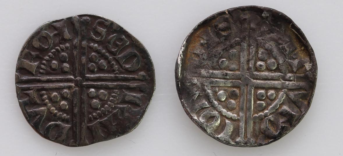 Henry III Long Cross Silver Pennies of Bury St Edmunds (2): Class 5b2, moneyer Randulf, S.1368A, 1. - Image 2 of 2