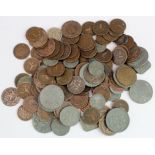 Netherlands (135) base metal coinage 17th-20thC, mixed grade.