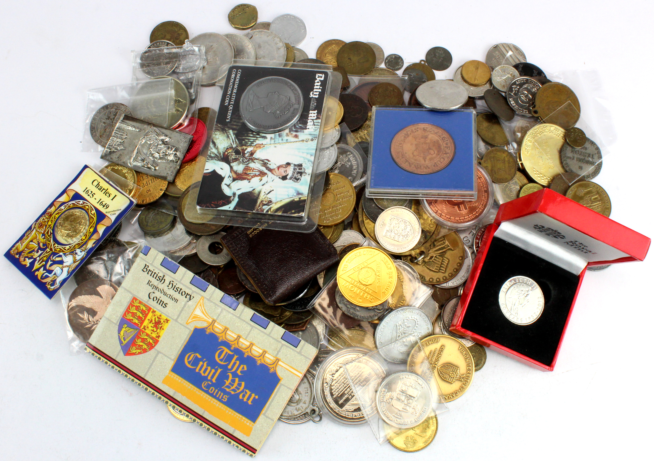 Tokens, medallions, repros, counters etc (300)