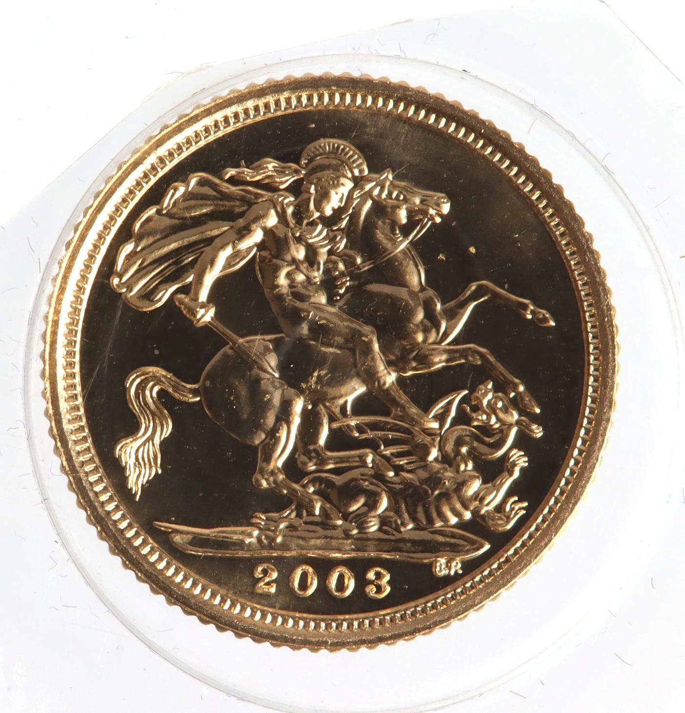 Half Sovereign 2003 BU still sealed - Image 2 of 2