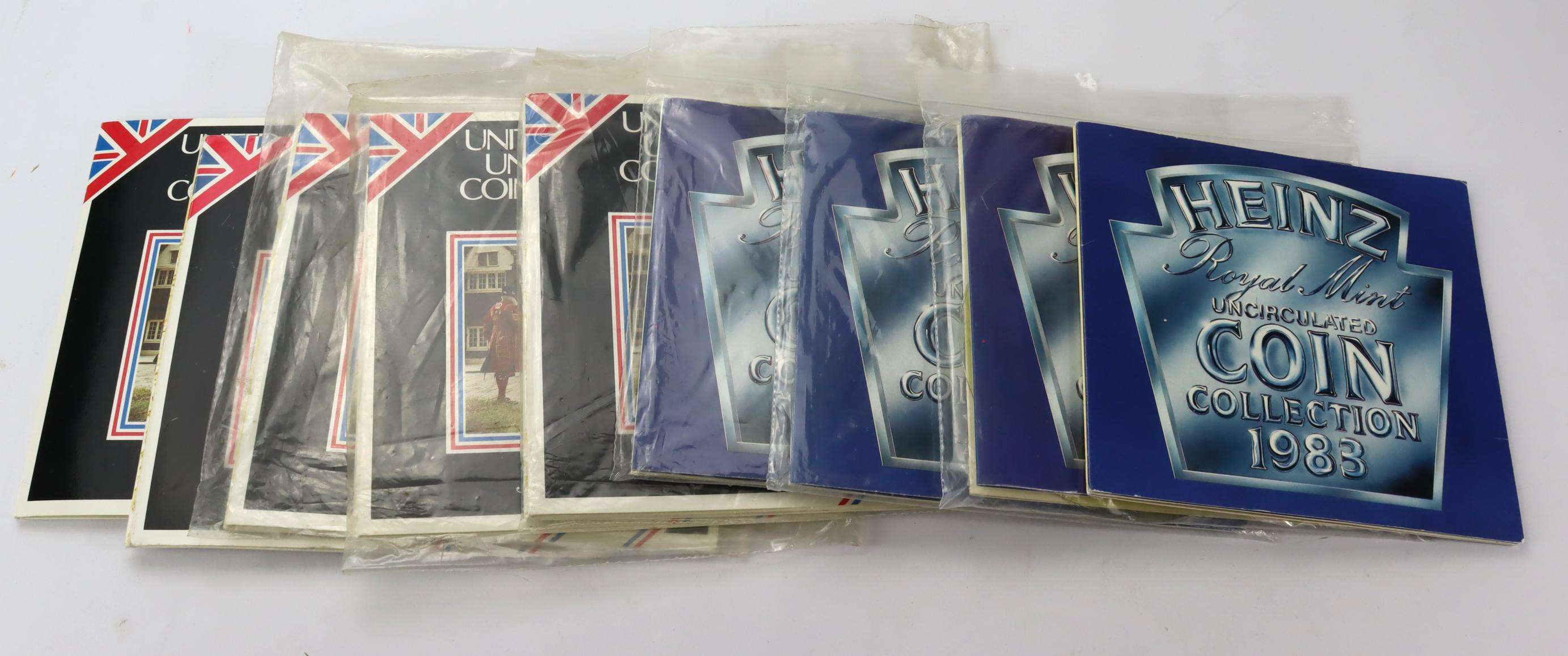"""GB Mint sets (9) all 1983 includes """"Heinz"""" x 4. BU"""