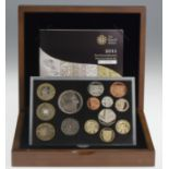 Proof Set 2011 FDC in the plush wooden box of issue