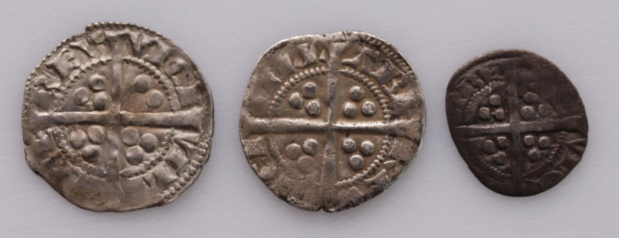 Edward I, Berwick-on-Tweed (3): Penny S1415, Blunt type III, 1.28g, nVF weak in places, small crack; - Image 2 of 2